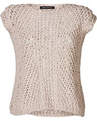 Iris Von Arnim Open Knit Ulana Top - Lyst