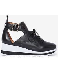 Nasty Gal Jeffrey Campbell Jeter Leather Trainer - Lyst