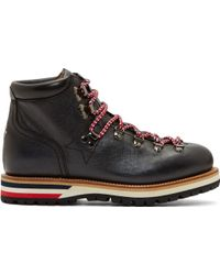 Moncler Black and Red Etched Blanche Mountain Boots - Lyst