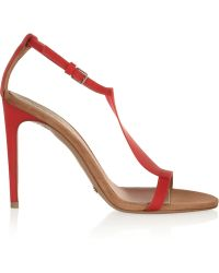 Burberry Prorsum Vinyl and Suede Sandals - Lyst