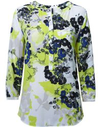 NYDJ - Floral Print Blouse In Multi Colour - Lyst