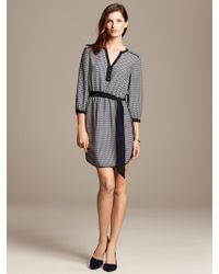 Banana Republic Chain Print Riviera Dress Preppy Navy - Lyst