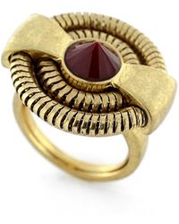 Vince Camuto - 'belle Of The Bazaar' Small Statement Ring - Worn Gold/ Burgundy - Lyst