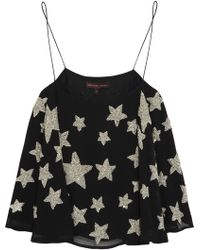 Kate Moss For Topshop Starembellished Crepe Camisole - Lyst