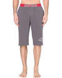 Emporio Armani Cotton-Blend Eagle Shorts - For Men - Lyst