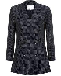 3.1 Phillip Lim Polka Dot Tuxedo Jacket - Lyst