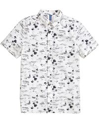 H&M Short-Sleeved Cotton Shirt white - Lyst