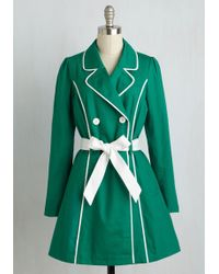 ModCloth | East Coast Tour Coat In Grass | Lyst