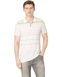 Calvin Klein Jeans Slub Knit Stripe Polo Shirt - Lyst