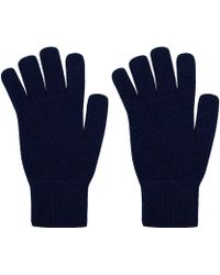 Howlin' By Morrison - Navy Herbie Texture Lambswool Gloves - Lyst