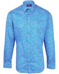 Liberty - Blue Bellis Cotton Shirt - Lyst