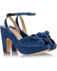Charlotte Olympia Sandals blue - Lyst