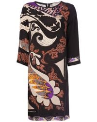 Etro Crepe Shift Dress - Lyst