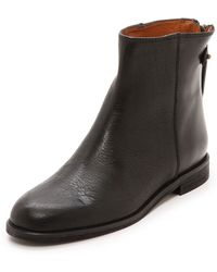 Madewell Zip Back Flat Boots  True Black - Lyst