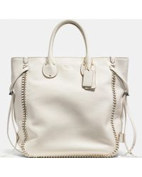 Coach Tatum Tall Tote In Whiplash Leather - Lyst