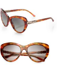 Bvlgari Scaled Arm 55mm Butterfly Sunglasses - Lyst
