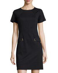 Donna Morgan Short-Sleeve Shift Dress - Lyst
