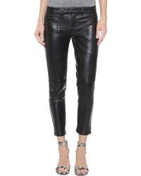 One Teaspoon Hustle Skinny Leather Pants - Onyx - Lyst