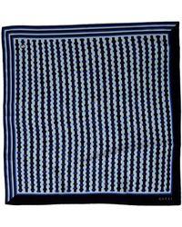 Gucci Blue Square Scarf - Lyst