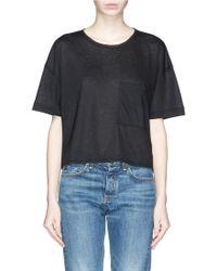 Rag & Bone/JEAN 'Hollins' Linen-Blend Pocket T-Shirt - Lyst