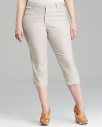 Nydj Plus Tatum Crop Pants - Lyst