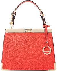 Dune Dinidanni Mini Leather Tote - For Women red - Lyst