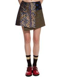 Suno Patchwork Mini Skirt - Lyst