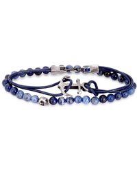 Simon Carter - Blue Bracelets - Set Of Two - Lyst