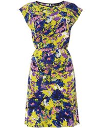 Therapy Slash Neck Splash Print Dress - Lyst