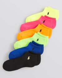 Ralph Lauren Blue Label Low Cut Ankle Socks Set Of 6 - Lyst