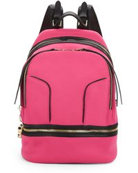Cynthia Rowley - Brody Leather-trimmed Neoprene Backpack - Lyst