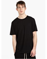 T By Alexander Wang Men'S Black Cotton T-Shirt - Lyst