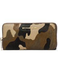 Michael by Michael Kors Jet Set Hair Calf Travel Continental Wallet - Lyst