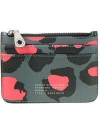 Marc By Marc Jacobs - Grey Printed Divine Leopard Lina Wallet - Lyst