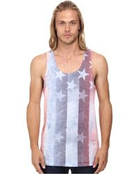 Converse Sub Americana Print Tank Tee white - Lyst