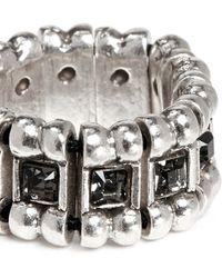Philippe Audibert 'Lisa' Crystal Bead Elastic Ring silver - Lyst