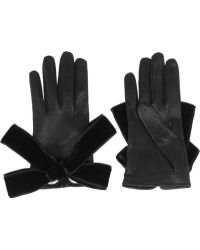 Alexander McQueen - Bowembellished Leather Gloves - Lyst