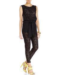 Love Moschino Sleeveless Lace Jumpsuit - Lyst