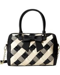 Betsey Johnson Weave On Satchel - Lyst