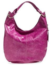 Hobo Gardner Leather Shoulder Bag purple - Lyst