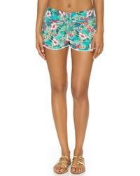 OndadeMar - Hawaiian Bloom Beach Shorts - Lyst