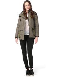 Color Block - Quilted Jacket - Lyst