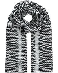 Armani - Horizontal Herringbone Scarf - Lyst
