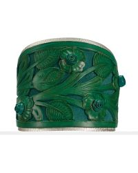 Ralph Lauren Blue Tooled-leather Cuff - Lyst