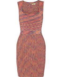 Issa Orange Stretchknit Dress - Lyst