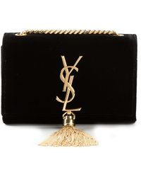 Saint Laurent Monogram Shoulder Bag - Lyst