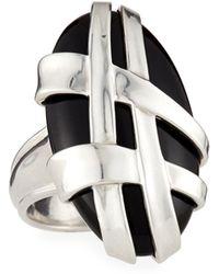 Slane - Crescent Weave Black Onyx Ring, Size 7 - Lyst