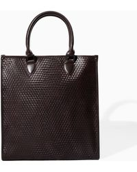 Zara Braided Shopper Bag - Lyst