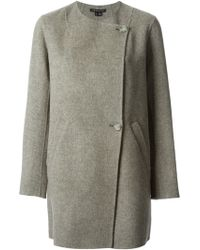 Theory Gray Nyma Coat - Lyst