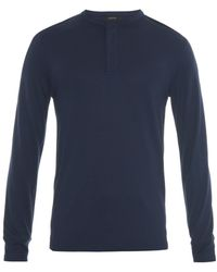 Joseph Long-Sleeved Henley T-Shirt - Lyst